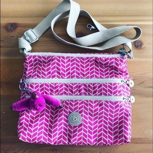 KIPLING KEIKO ALAVAR Pink Fuchsia Messenger Bag
